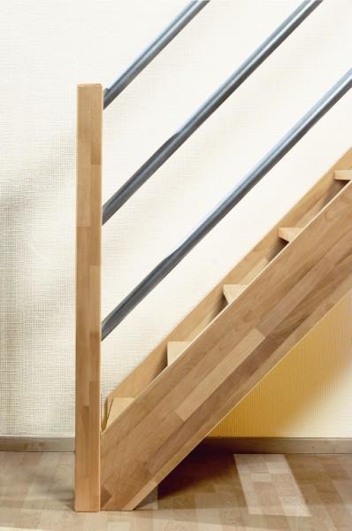 Beuken houten trappen bouwpakket trappen houten en for Trap 2 meter