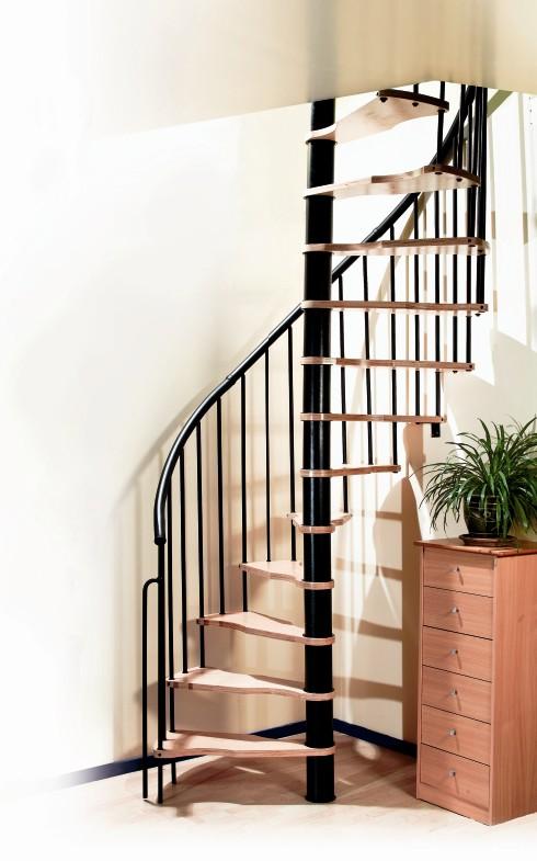 Doe het zelf trappen bouwpakkettrappen zolder trappen for Stalen draaitrap